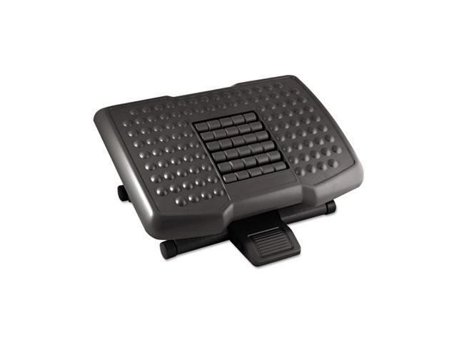 Kantek FR750 Premium Adjustable Footrest With Rollers, Plastic, 18w x 13d x 4h, Black