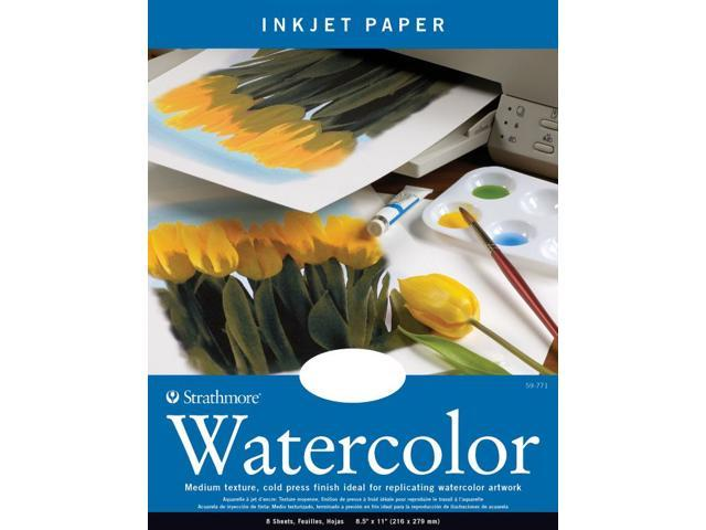 Strathmore ST59-771 8.5 in. x 11 in. Natural White Cold Press Watercolor Inkjet Papers