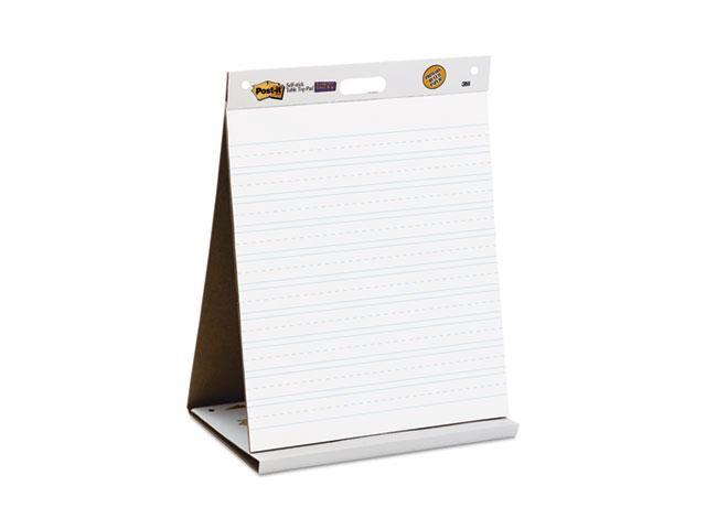 Post-It Easel Pads 563PRL Self-Stick Tabletop Easel Ruled Pad, Command Strips, 20 x 23, White, 20 Shts-Pad