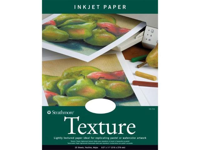 Strathmore ST59-701 8.5 in. x 11 in. Fluorescent White Wove Texture Inkjet Papers