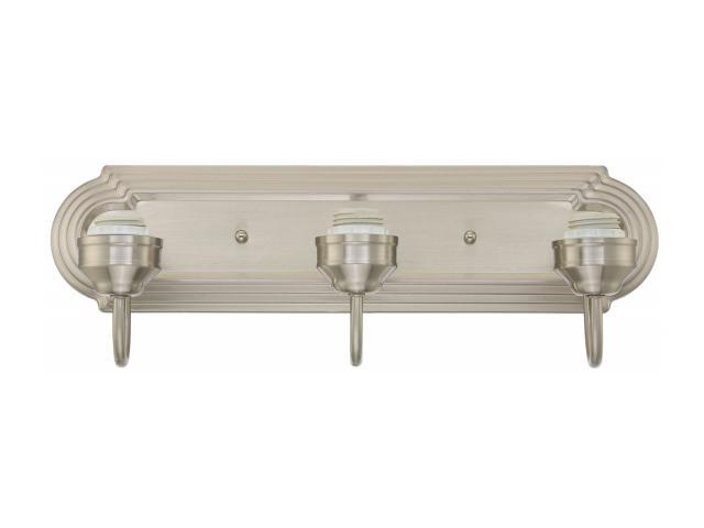 Westinghouse Lighting 6300800 Three Light Brushed Nickel Interior Wall Fixture