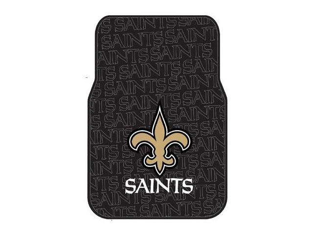 Northwest NW-1NFL343000021RET New Orleans Saints Set of Rubber Floor Mats