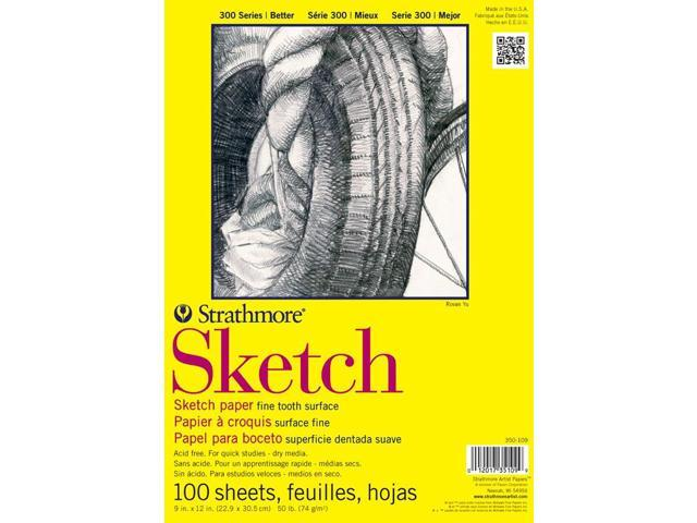 Strathmore ST350-14 14 in. x 17 in. 300 Series Wire Bound Sketch Paper - 100 Sheets
