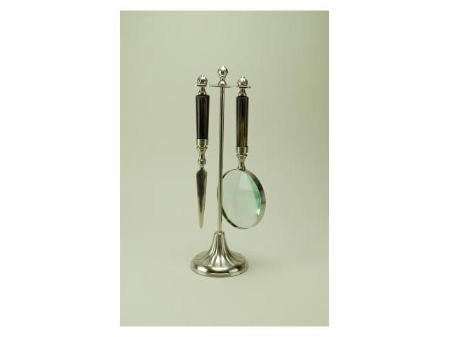 Modern Day Accents 3450 Pewter Magnifier-Opener Set