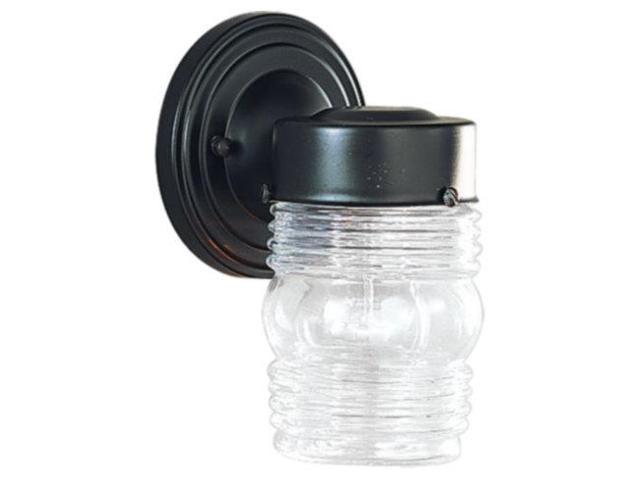 Sea Gull Lighting 8550-12 One Light Outdoor Wall Fixture - Black Finish
