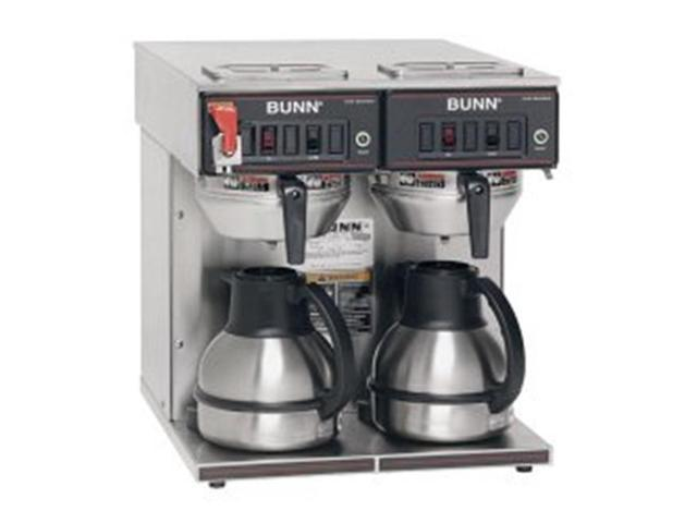 BUNN 23400.0047 Thermo Fresh TWIN-Thermal Carafe 120/240V Stainless Steel Funnel Coffee Brewer
