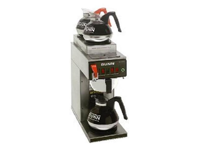 BUNN 12950.0283 12 Cup Coffee Brewer with Upper/Lower Warmers Thermo Fresh 20 Stainless Steel Funnel