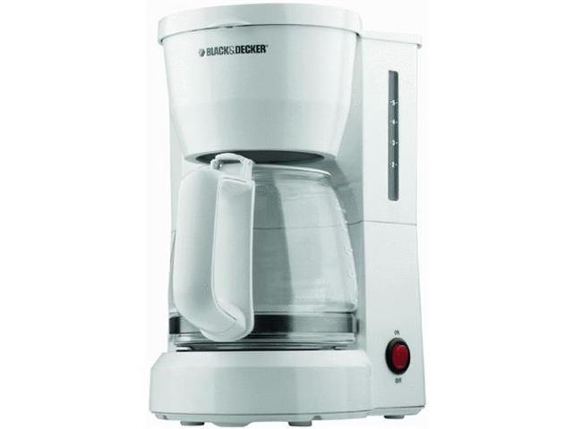 Spectrum Diversified DCM600W 5-Cup Drip Coffeemaker with Glass Carafe - White