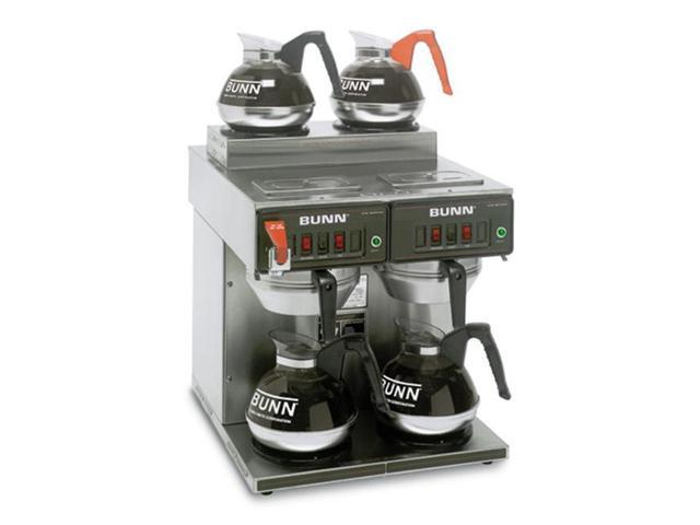 BUNN 23400.0001 12 Cup Coffee Brewers Thermo Fresh 2/2 TWIN 120/240V Stainless Steel Funnel