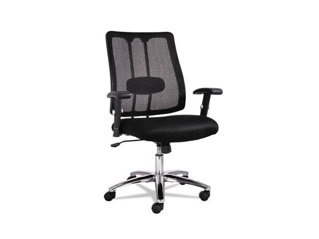 Alera EM4214 EM Series Mesh Lumbar Chair, 26.63w x 24.88d x 38.63 to 41.63h, Black