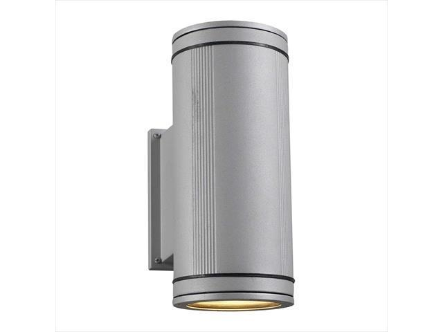 PLC Lighting 1884 SL Outdoor 2 Light Incandescent 100W in Silver