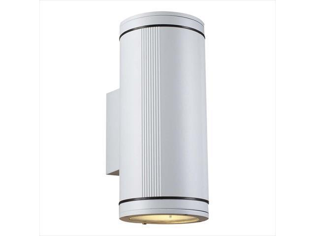 PLC Lighting 1884 WH Outdoor 2 Light Incandescent 100W in White
