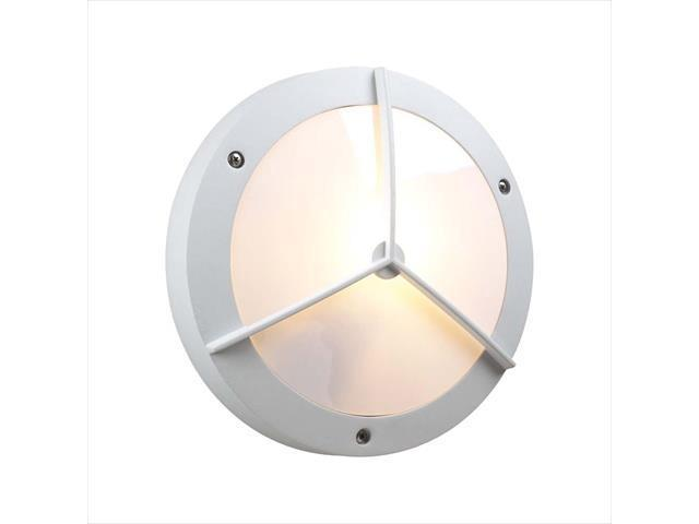 PLC Lighting 1860 WH Outdoor 1 Light Incandescent 100W in White