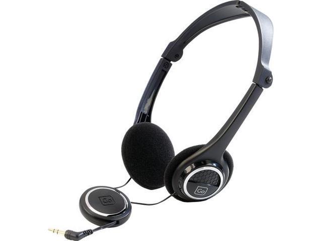 Go Travel 913 Folding Headphones - Black