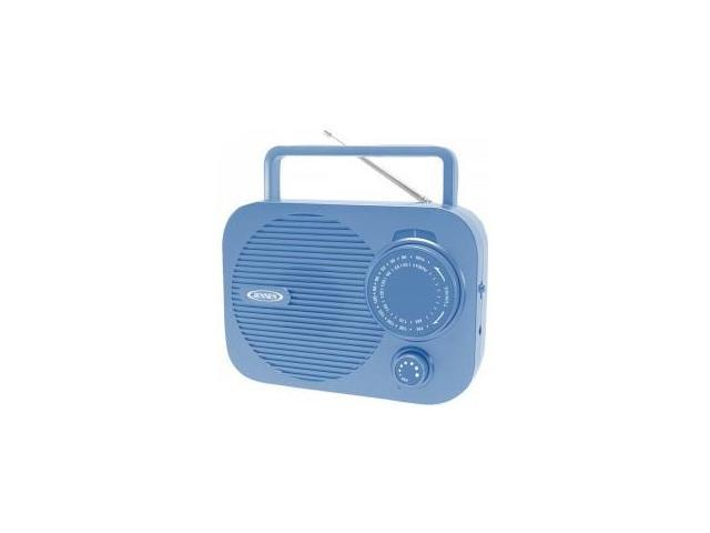 Jensen Mr550Bl Blue Portable Am Fm Radio with Auxillary Input