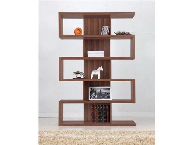 Enitial Lab YNJ-BC2000WNTA1 Marcel Modern Walnut Bookcase-Display Stand