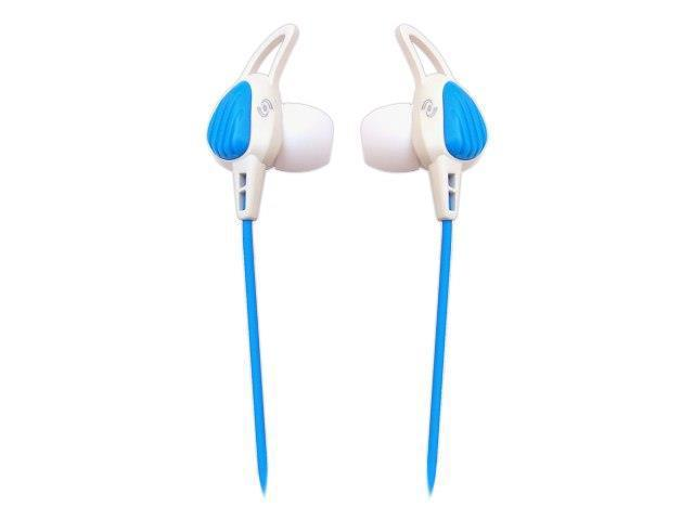 Sound Around-Pyle PWP15W Waterproof Aqua Sport Headphones, White - Blue