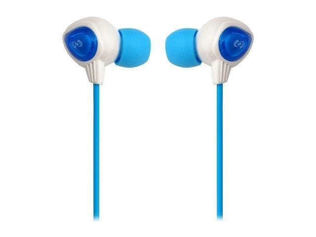 Sound Around-Pyle PWP25W Waterproof Aqua Sport Headphones, White - Blue