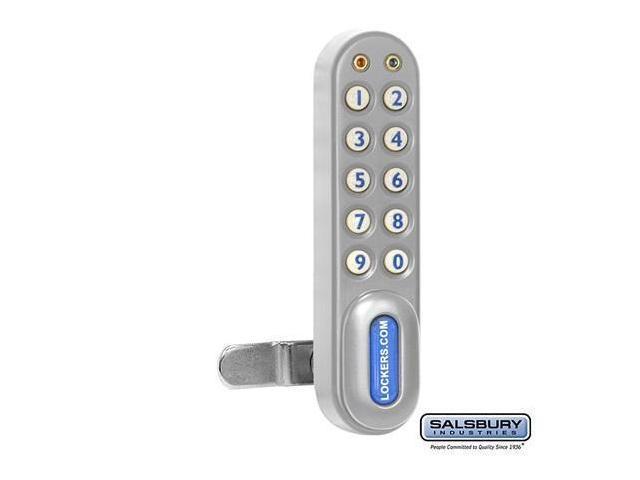 Salsbury 22290SLV Electronic Lock For Extra Wide Designer Wood Locker Door - Silver