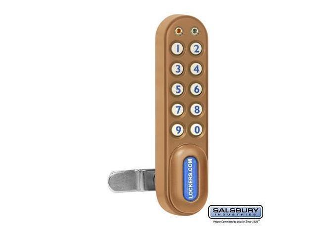 Salsbury 22290GLD Electronic Lock For Extra Wide Designer Wood Locker Door - Gold