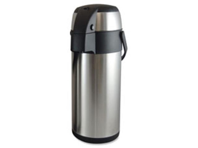 Genuine Joe GJO11960 Vacuum Pump Pot, 2.5L., Stainless Steel
