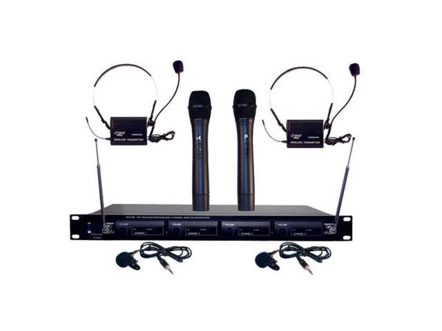 SOUND AROUND/PYLE INDUSTRIES PDWM4300 4 Mic VHF Wireless Microphone System
