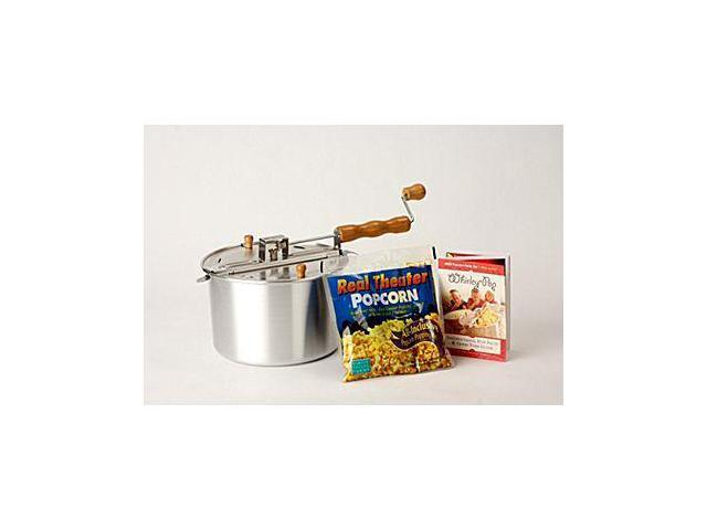 Wabash Valley Farms, Inc 24001DS Silver Whirley-Pop with Real Theater Popping Kit