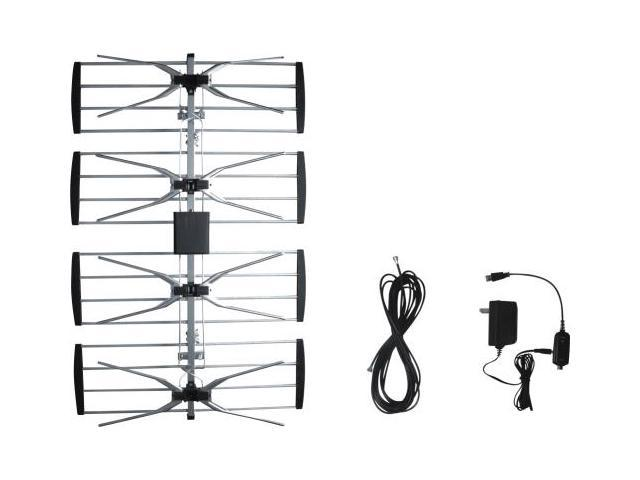 Digiwave ANT2092 Outdoor TV antenna with booster, with 8m 3C-2V coaxial cable,with CUL approval adaptor