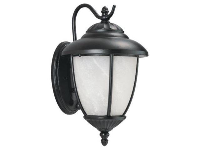 Sea Gull Lighting 89049PBLE-12 One Light Outdoor Wall Fixture - Black Finish