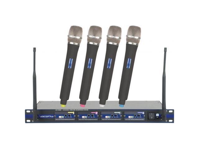 VOCOPRO UHF5800-5 Professional 4-Channel UHF Wireless Microphone System