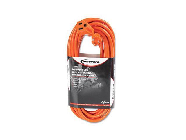Innovera 72225 Indoor-Outdoor Extension Cord, 25 Feet, Orange
