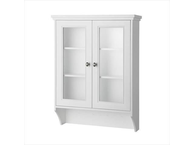 Foremost Group GAWW2431 23.5 in. Gazette Wall Cabinet in White with Glass Door