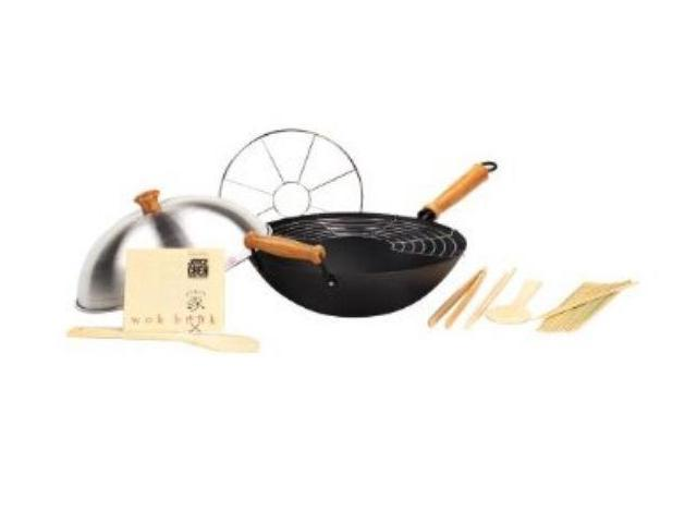 Columbian Home Products 22-9938 14 in. Excalibur Non-Stick Wok Set - 10 Pieces