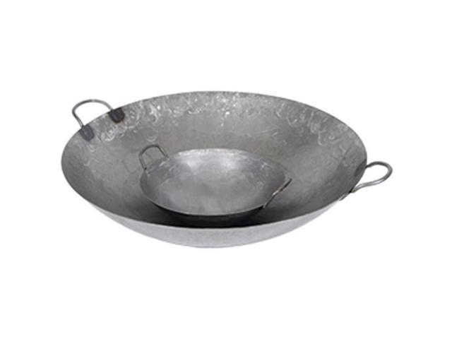 Town Food Service 34714 14 in. Steel Hand Hammered Cantonese Wok