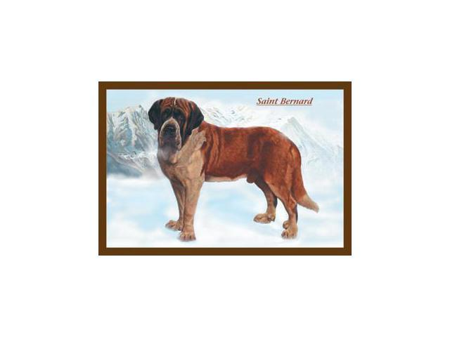 Buy Enlarge 0-587-04378-4P12x18 Smooth Coated Saint Bernard- Paper Size P12x18
