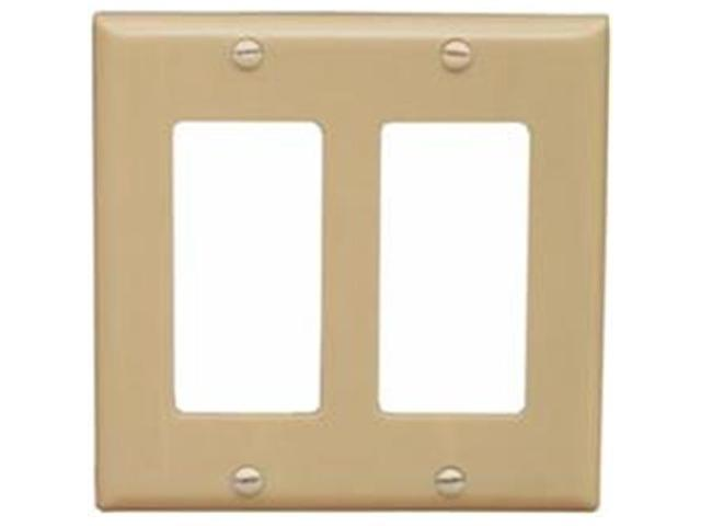 Morris Products 81770 Lexan Wall Plates 2 Gang Midsize Decorative - GFCI Ivory
