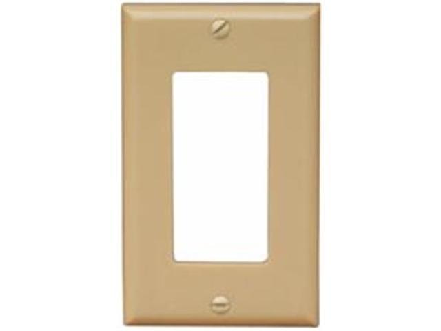 Morris Products 81820 Lexan Wall Plates 1 Gang Oversize Decorative - GFCI Ivory