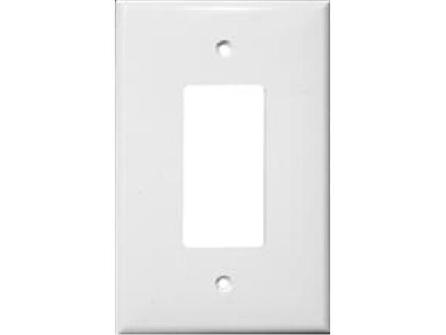 Morris Products 81821 Lexan Wall Plates 1 Gang Oversize Decorative - GFCI White