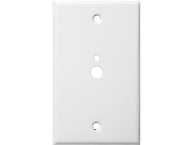 Morris Products 83522 Stainless Steel Metal Wall Plates 1 Gang 1Phone 1Cable.374 And.177 White