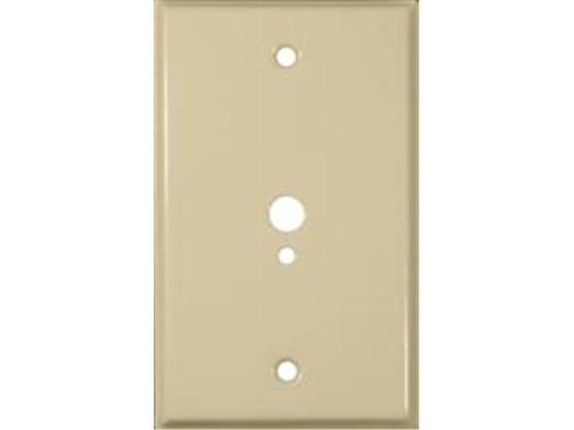 Morris Products 83523 Stainless Steel Metal Wall Plates 1 Gang 1Phone 1Cable.374 And.177 Ivory
