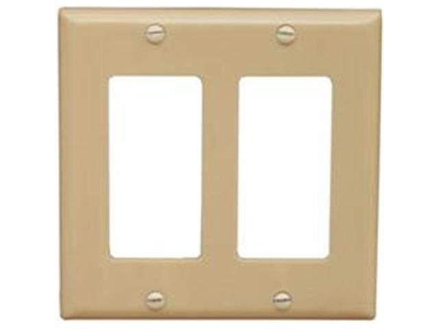 Morris Products 81120 Lexan Wall Plates 2 Gang Decorator - GFCI Ivory
