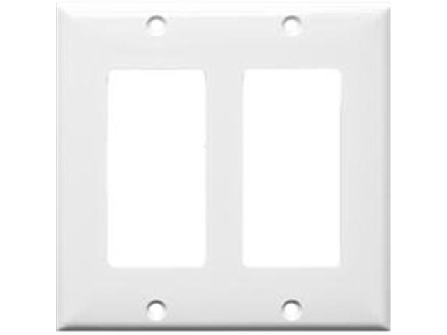 Morris Products 81121 Lexan Wall Plates 2 Gang Decorator - GFCI White