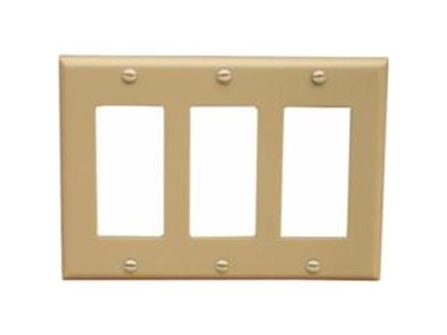 Morris Products 81130 Lexan Wall Plates 3 Gang Decorator - GFCI Ivory