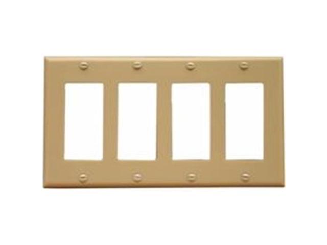 Morris Products 81140 Lexan Wall Plates 4 Gang Decorator - GFCI Ivory