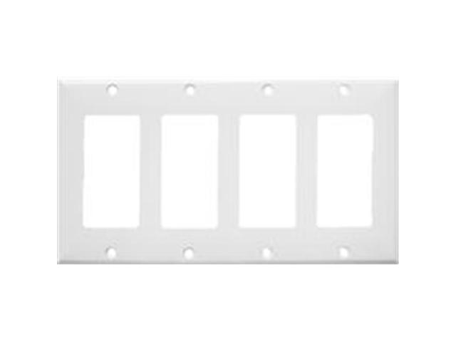 Morris Products 81141 Lexan Wall Plates 4 Gang Decorator - GFCI White