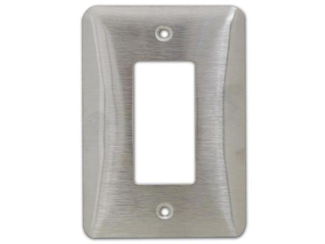 Morris Products 83642 Stainless Steel Metal Wall Plates Midsize 1 Gang Decorator - GFCI White