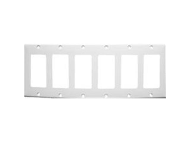 Morris Products 81161 Lexan Wall Plates 6 Gang Decorator - GFCI White