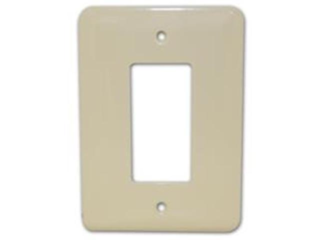 Morris Products 83643 Stainless Steel Metal Wall Plates Midsize 1 Gang Decorator - GFCI Ivory