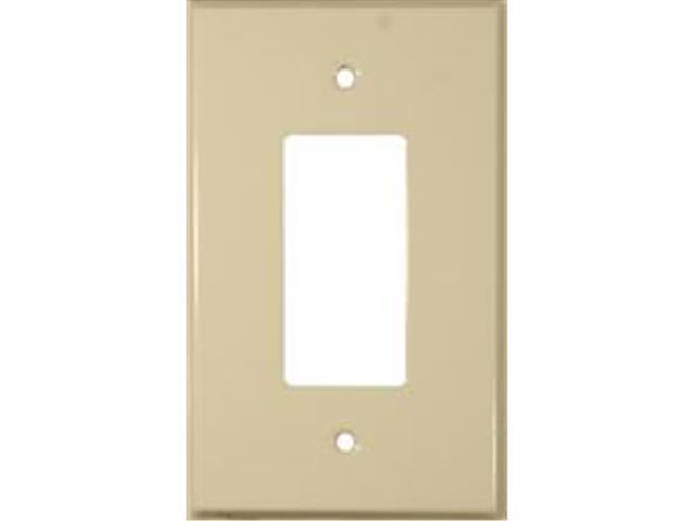 Morris Products 83743 Stainless Steel Metal Wall Plates Oversize 1 Gang Decorator - GFCI Ivory