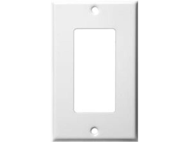 Morris Products 83112 Stainless Steel Metal Wall Plates 1 Gang Decorator - GFCI White